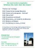 Flyer zur Veranstaltung. - Ahmadiyya Muslim Jamaat Schweiz - Seite 2