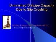 DEA-150 Presentation - Drilling Engineering Association