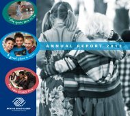 A N N U A L R E P O R T 2 0 1 2 - Boys & Girls Clubs of Sonoma Valley