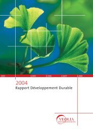 Rapport Développement Durable 2004 - Veolia Finance - Veolia ...