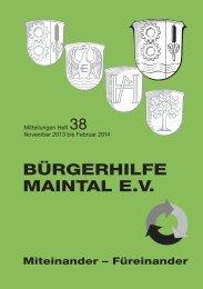 Heft 38 vom November 2013 - Bürgerhilfe Maintal eV