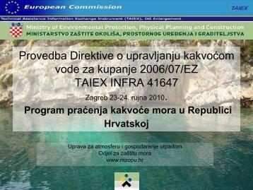 Program praćenja kakvoće mora u Republici Hrvatskoj - Ministarstvo ...