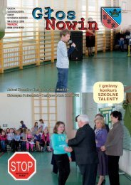 Głos Nowin marzec 2012 - Urząd Gminy Sitkówka-Nowiny