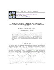 An interpolation theorem for sublinear operators on non ...