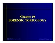 Chapter 10 FORENSIC TOXICOLOGY - Duluth High School