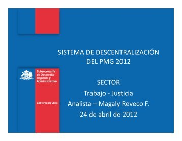 subsecretaria de justicia - PMG - Descentralización