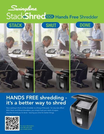 HANDS FREE shredding - it's a better way to shred - Net
