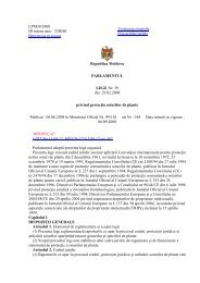 Legii privind protectia soiurilor de plante Nr. 39-XVI - agepi