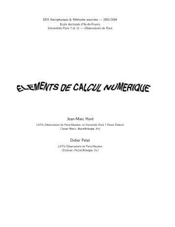 Jean-Marc Huré Didier Pelat - Laboratoire d'Astrophysique de ...
