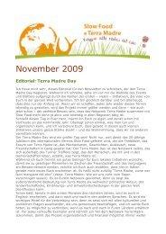 November 2009 - Slow Food