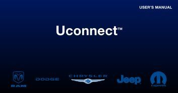 2011 - Chrysler Radio Book Uconnect Owner's Manual