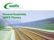 UNIFE Plenary Presentation