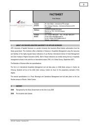 FACTSHEET - Les Roches International School of Hotel Management