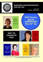 February - March 2011 Newsletter - Newtown Neighbourhood Centre