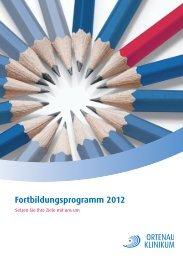Fortbildungsprogramm 2012 - Ortenau Klinikum