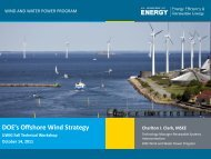 DOE's Offshore Wind Strategy - Utility Variable Generation ...
