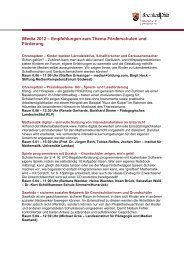 Empfehlungen zum Thema Förderschulen und Förderung - iMedia