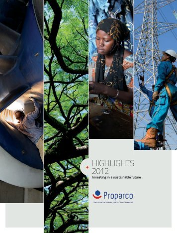 Download the highlights 2012 - Proparco