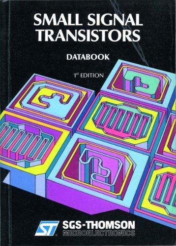 SGS Small Signal Transistors 1ed 1989