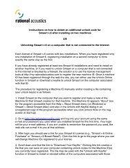 EAW Smaart 6 Operation Manual - Rational Acoustics