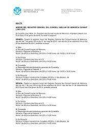 edicte horari registre 2013 - Consell Insular de Menorca