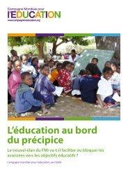 L'éducation au bord du précipice - Global Campaign for Education