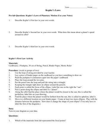 activity 12 kepler 39 s law. Black Bedroom Furniture Sets. Home Design Ideas