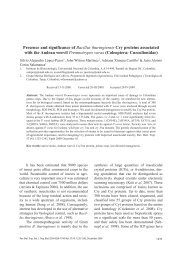 Presence and significance of Bacillus thuringiensis Cry proteins ...