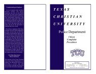 Citizen Complaint Procedure brochure - TCU Police Department