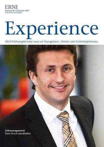 Zeitmanagement Dem Druck standhalten ERNI Erfahrungsberichte ...