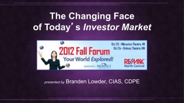 The Changing Face of Today's Investor Market - Sold Sign Blog