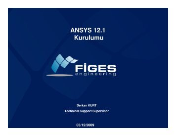 Ansys kurulum - Figes.com.tr