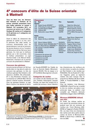 swissherdbook bulletin 1-2012-2-f