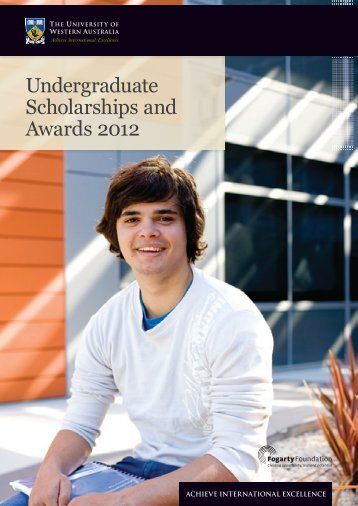 Undergraduate Scholarships and Awards 2012