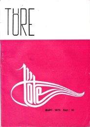 MART 1972 Sayı : 10