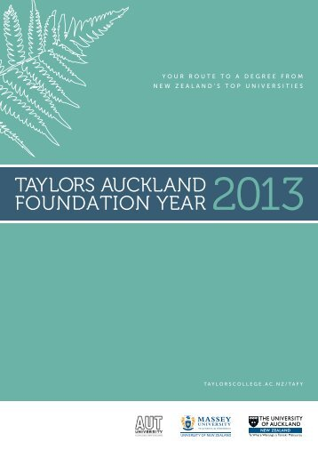 Download the 2013 TAFY brochure - Taylors College
