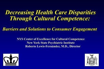 Decreasing Health Care Disparities Through Cultural Competence