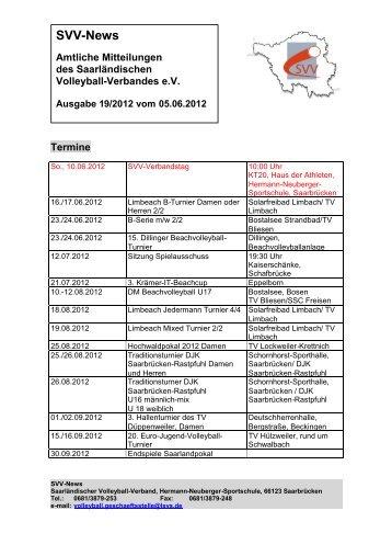 SVV-News - Saarländischer Volleyballverband eV