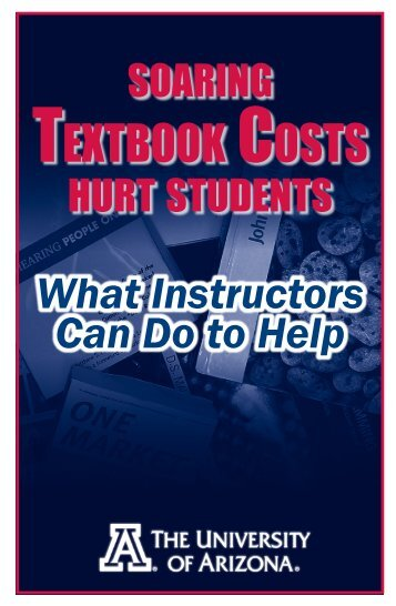 TEXTBOOK COSTS - The University of Arizona BookStores