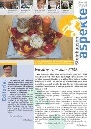 Ausgabe 01/2008 - Aspekte Steinhausen