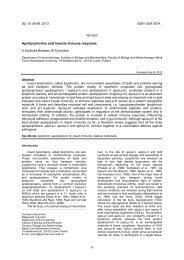Apolipophorins and insects immune response - Invertebrate Survival ...