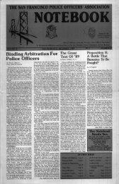 December 1989 - San Francisco Police Officers Association
