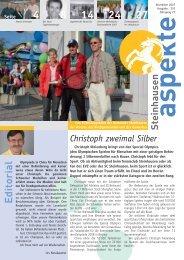 Ausgabe 11/2007 - Aspekte Steinhausen
