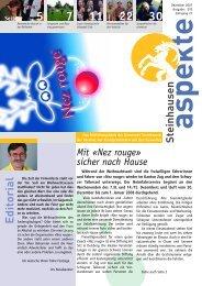 Ausgabe 12/2007 - Aspekte Steinhausen