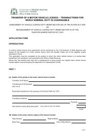 transfer of a motor vehicle licence – transactions for which nominal ...