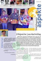 Ausgabe 12/2006 - Aspekte Steinhausen