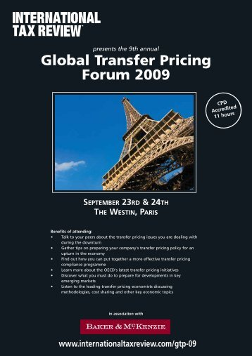 Global Transfer Pricing Forum 2009 - International Tax Review