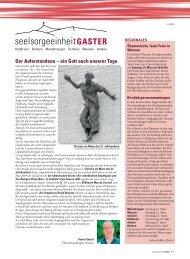 Der Auferstandene – ein Gott auch unserer Tage - Pfarrei Kaltbrunn