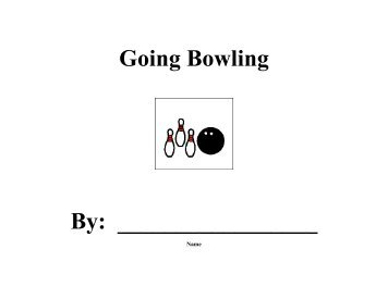 Going Bowling - Speaking of Speech