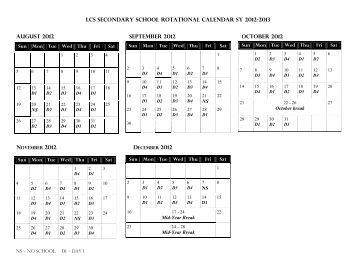 European School Frankfurt Secondary School Calendar 1st